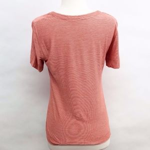 Akris Punto Tops - akris | punto orange thin-stripe tee sz 8